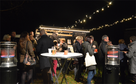 Pop-up café in het dorp
